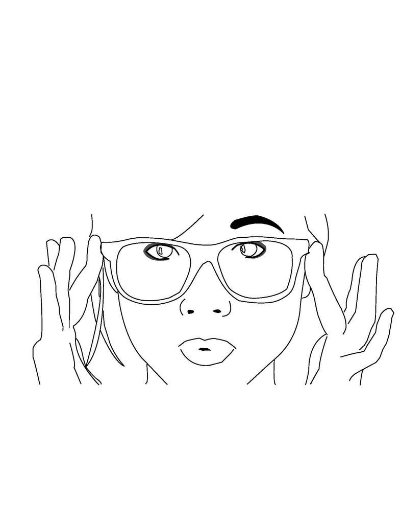 Line Art People : Hipster girl line art by fosterthepeople on deviantart