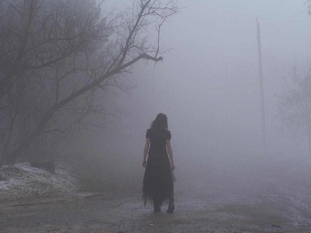 walking into the fog by zombie pip on deviantart