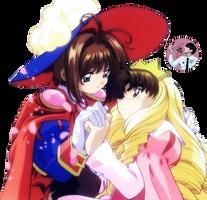 Render Sakura and Shaoran by HimeHonoka