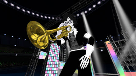 Bendy Trumpet / Bendtrump  MMD X BATIM by XBendyX