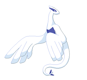 Lugia in Flight Pixel Over redone by crmsndragonwngs