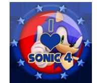I Love Sonic 4 Badges by darkfailure