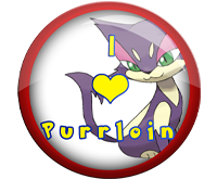 I Love Purrloin Badge by darkfailure