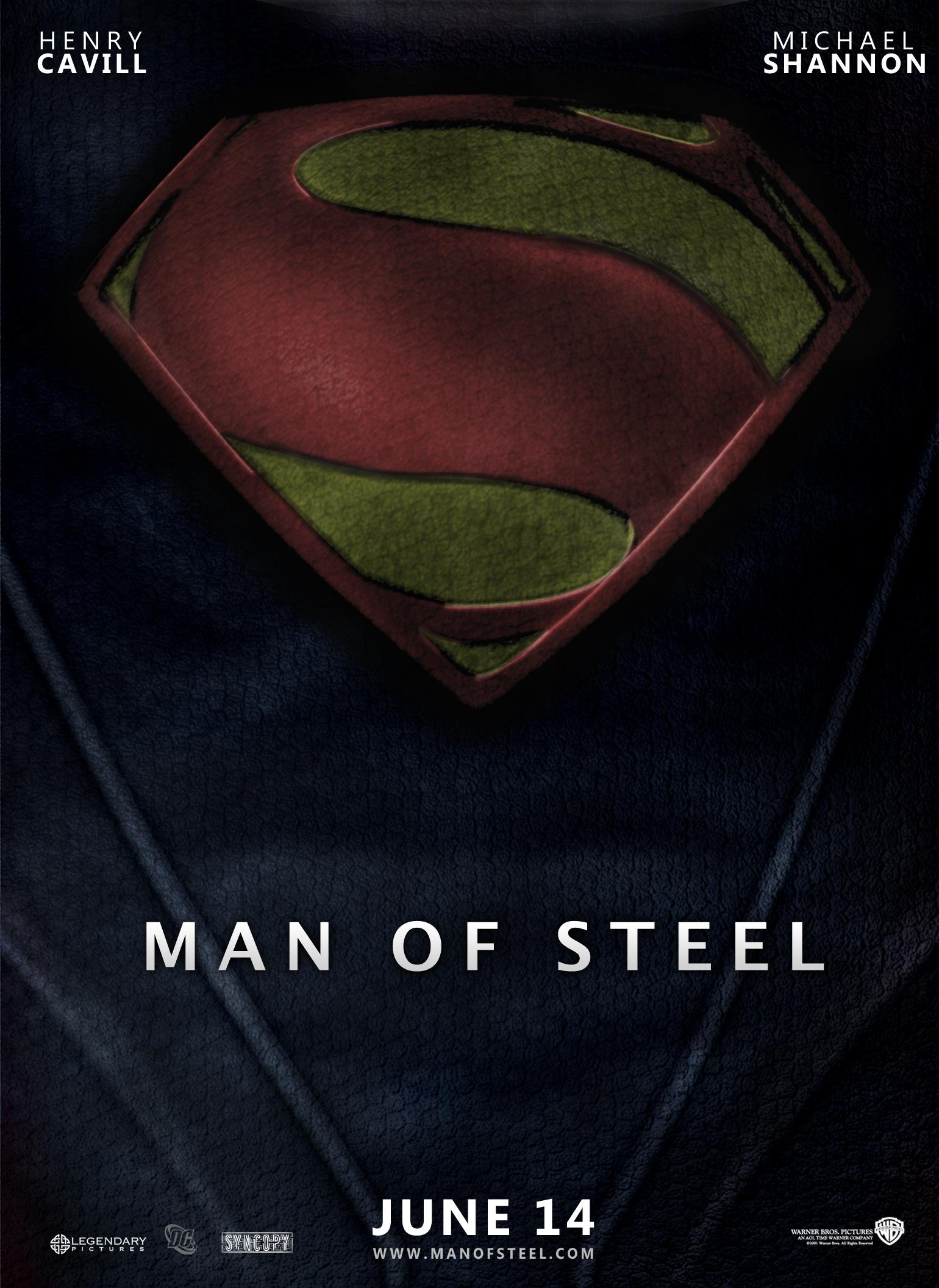 Superman Man Of Steel Movie Poster