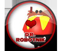 I Love Dr. Robotnik Badge by darkfailure