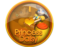 I Love Princess Daisy Badge by darkfailure