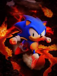 Sonic in Lava Zone