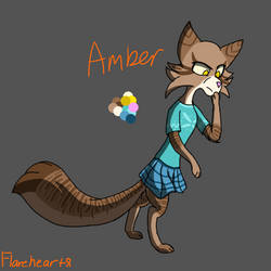 Amber's character references by Flareheart8