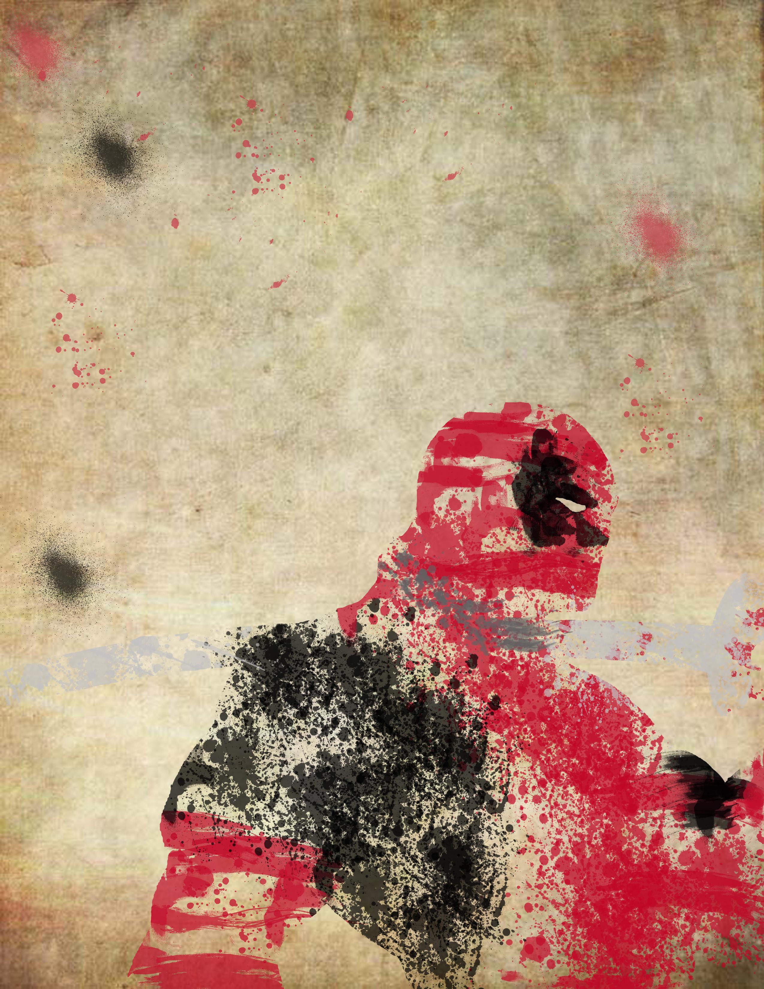 Splatter Deadpool by BlindAcolyte