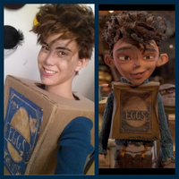 Eggs cosplay for The Boxtrolls