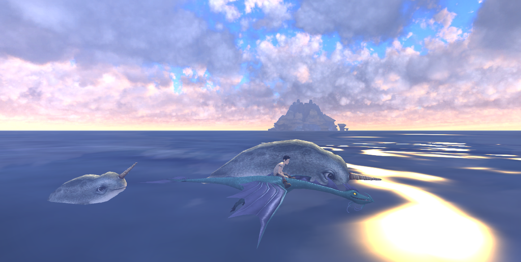 Narwhals, Narwhals, Swimming in the Ocean by WhispertheWolfie