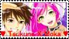 Tsukune x Moka stamp by Darksoulrosario
