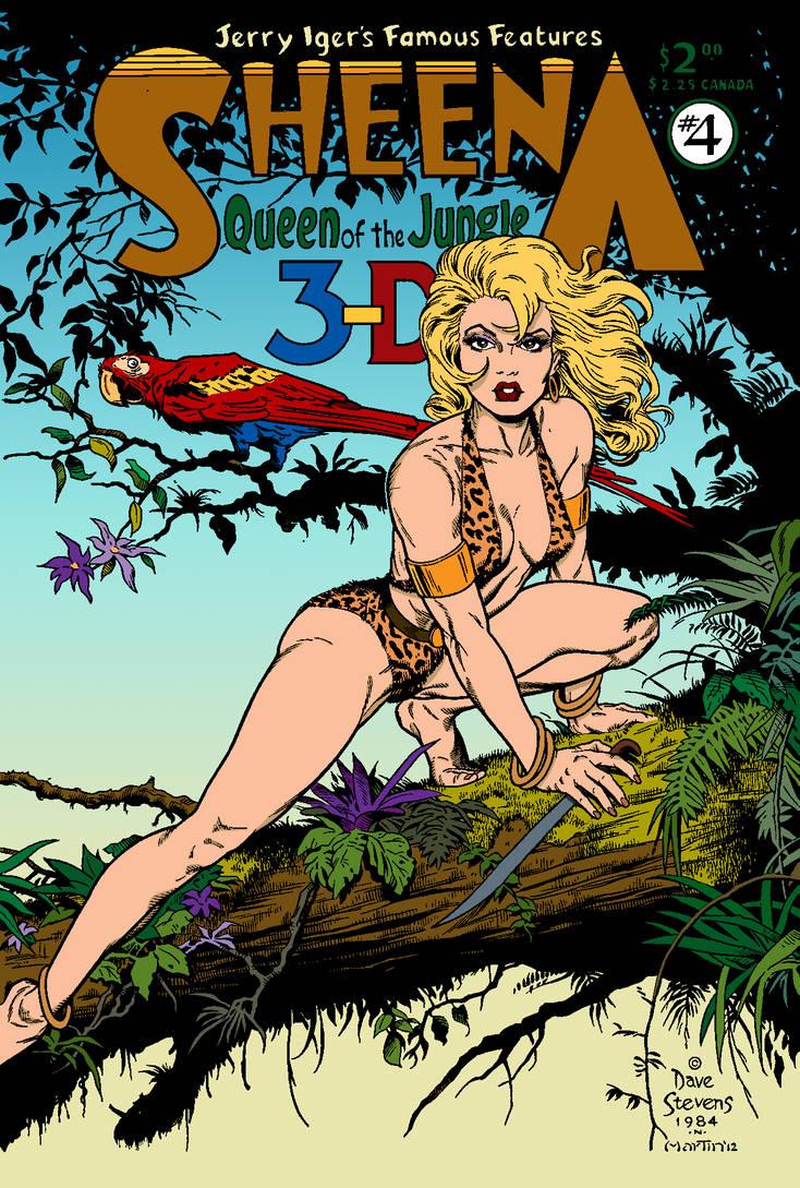 Dave Stevens Sheena Recreation by Skyboy coloured