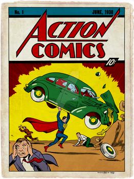 Action Comics 1 Recreation by Dalgoda7 - Coloured