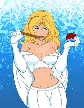 Hot For Frost White Queen by Ricozappa - Coloured