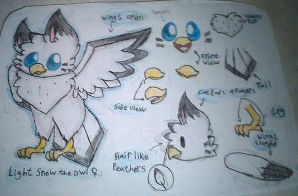 My Oc Light Snow the Owl by LightSnowl15