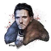Jon Snow / The King in the North by yagihikaru