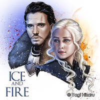 The King in the North and The Dragon Queen by yagihikaru