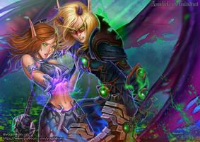 Annalockz and Galindrast by yagihikaru