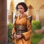 Ellaria Sand in kimono of Dorne