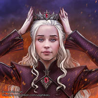 Daenerys Targaryen the Crowned Queen by yagihikaru