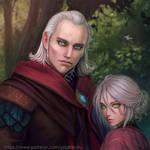 Avallac'h and Ciri