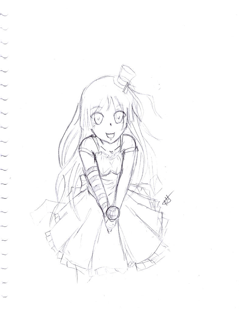 2nd Free Sketch: Mio by CaptainMika