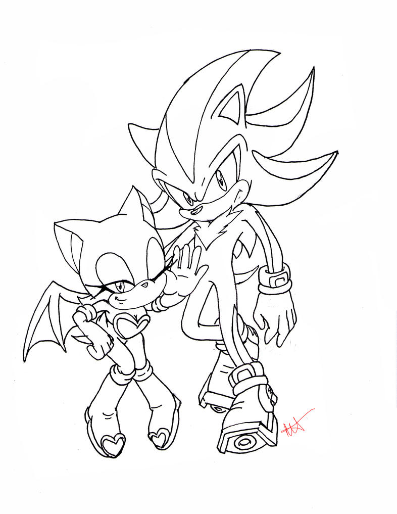 Lineart: Shadow.Rouge by CaptainMika