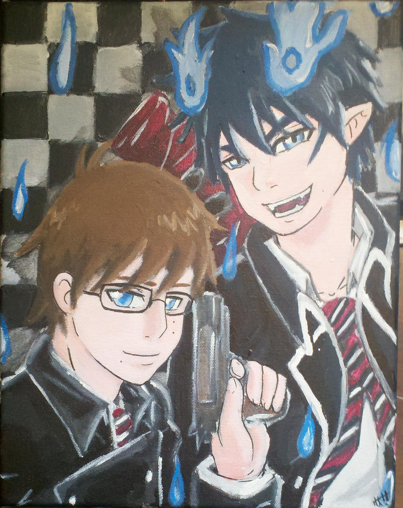 Rin and Yukio:Canvas by CaptainMika