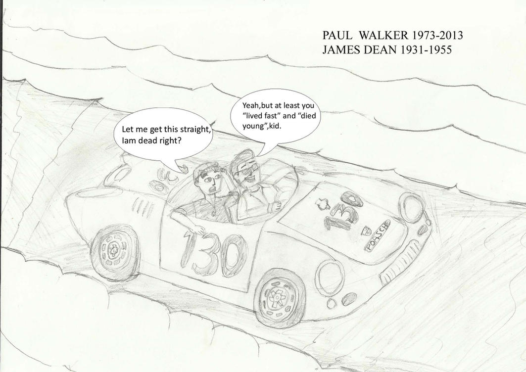 Paul Walker Rides With James Dean By Barneyjones123 On