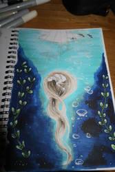 Inktober #04 Underwater by Sefira-ry