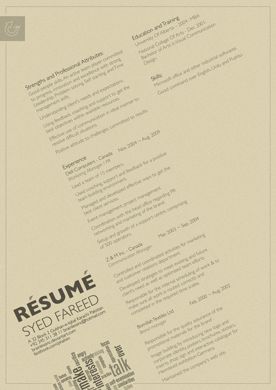 + syed fareed resume design 09 by brainlessinc