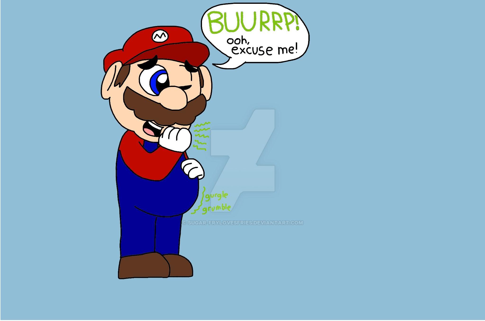 Mario burps by Sugar-Frylovesfries on DeviantArt