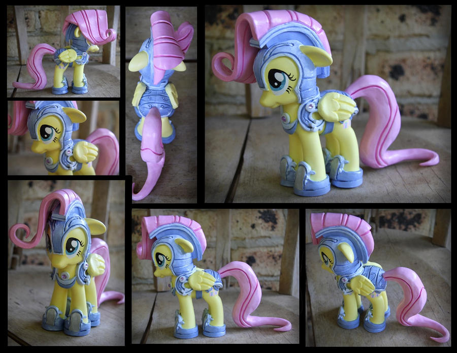 SOLD: Jousting Fluttershy Custom by Nazegoreng