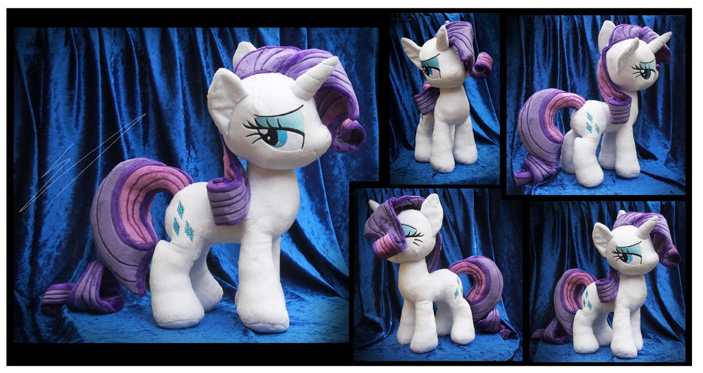 Rarity Plush by Nazegoreng