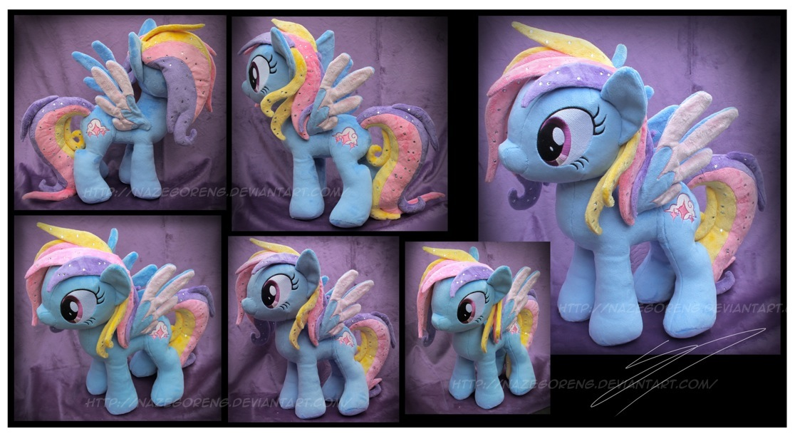 Glittering Cloud Custom Plush by Nazegoreng