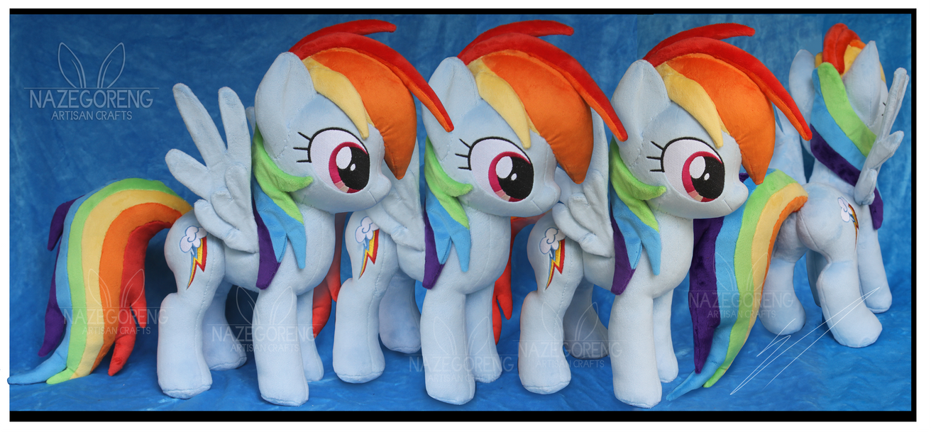 Commission: Rainbow Dash Custom Plush by Nazegoreng