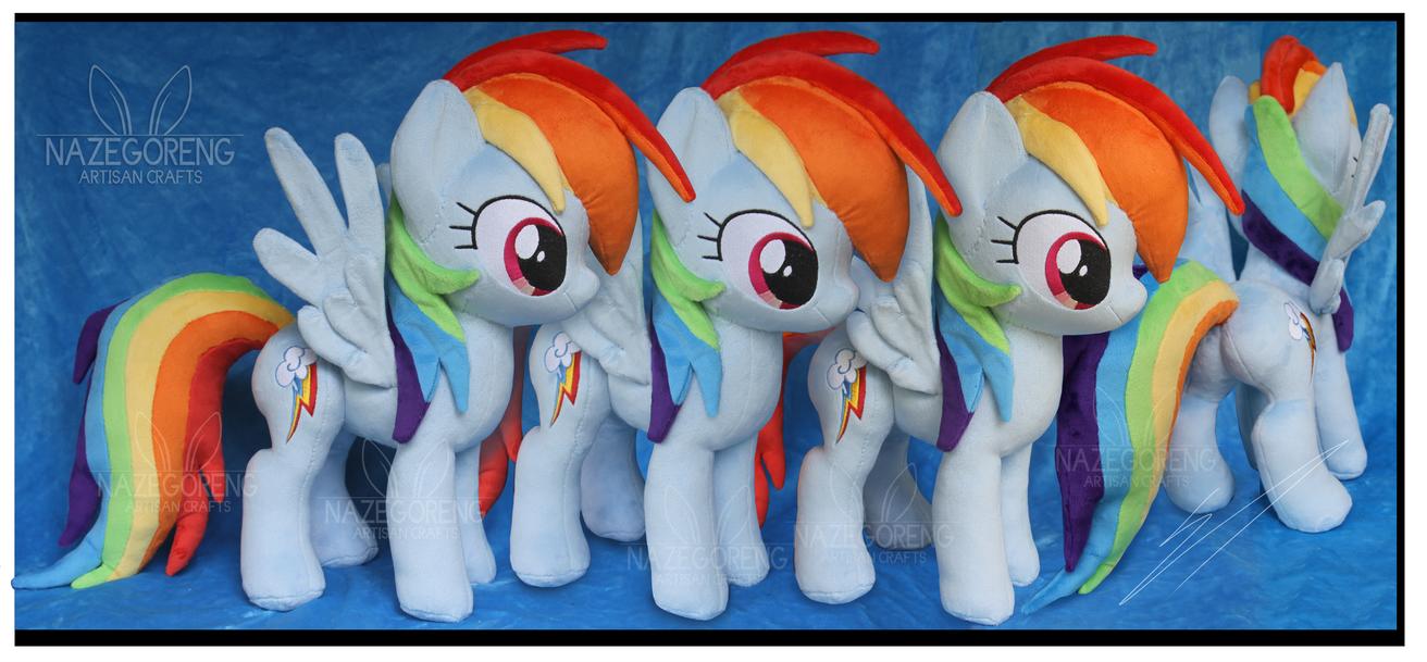 Commission: Rainbow Dash Custom Plush by Nazegoreng