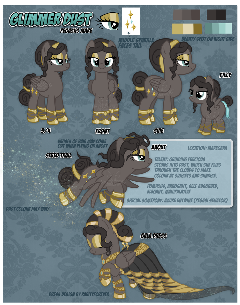 Reference Sheet: Glimmer Dust by Nazegoreng