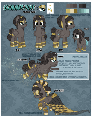 Reference Sheet: Glimmer Dust by NazFX