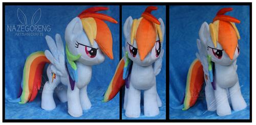 Rainbow Dash Custom Plush by Nazegoreng