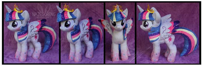 Rainbow Power Princess Twilight Plush by Nazegoreng