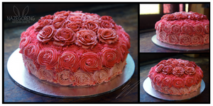 Ombre Rose Cake by Nazegoreng