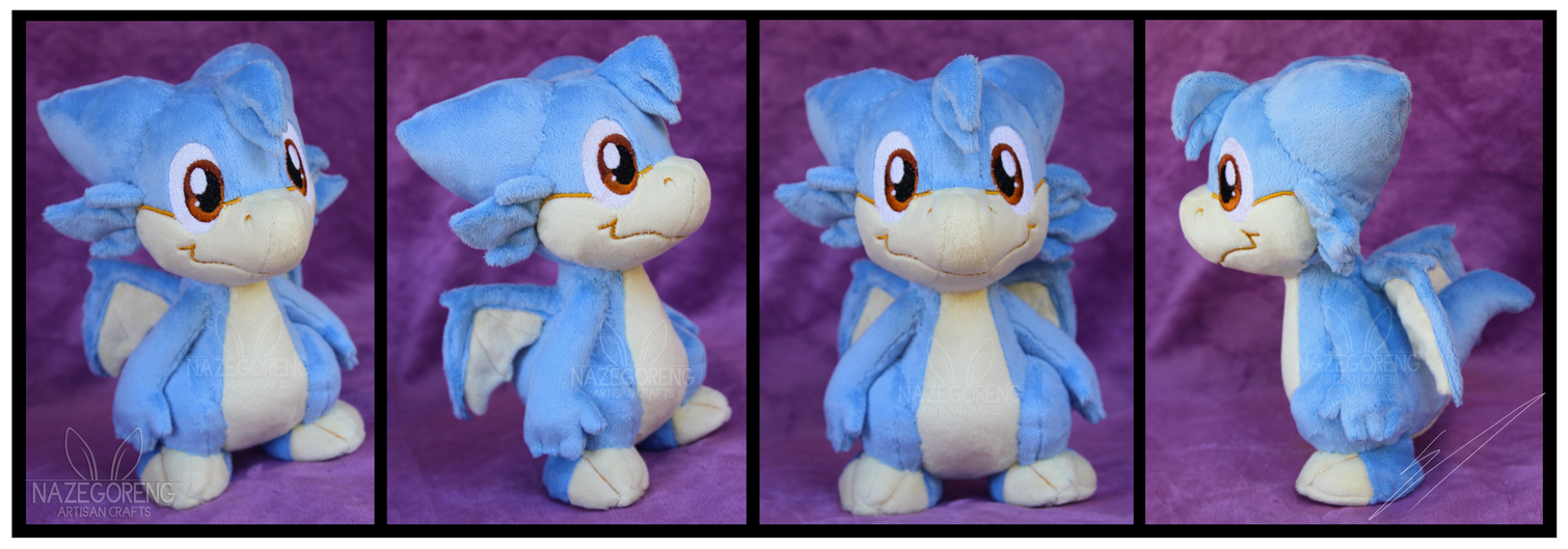 Trade: Ajin the Dragon OC custom plush by Nazegoreng