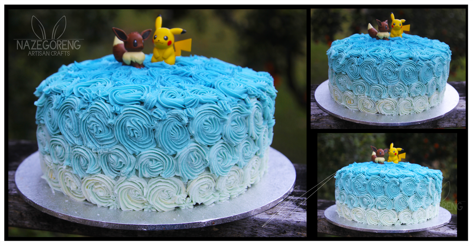 Blue Ombre Birthday Cake By Nazegoreng On Deviantart
