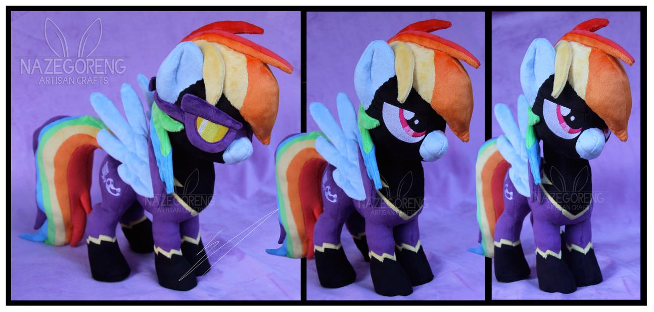 Shadowbolt Rainbowdash Custom Plush by Nazegoreng