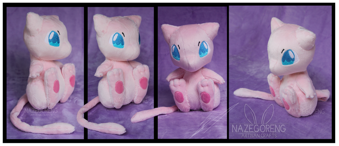 Mew Custom Plush by Nazegoreng