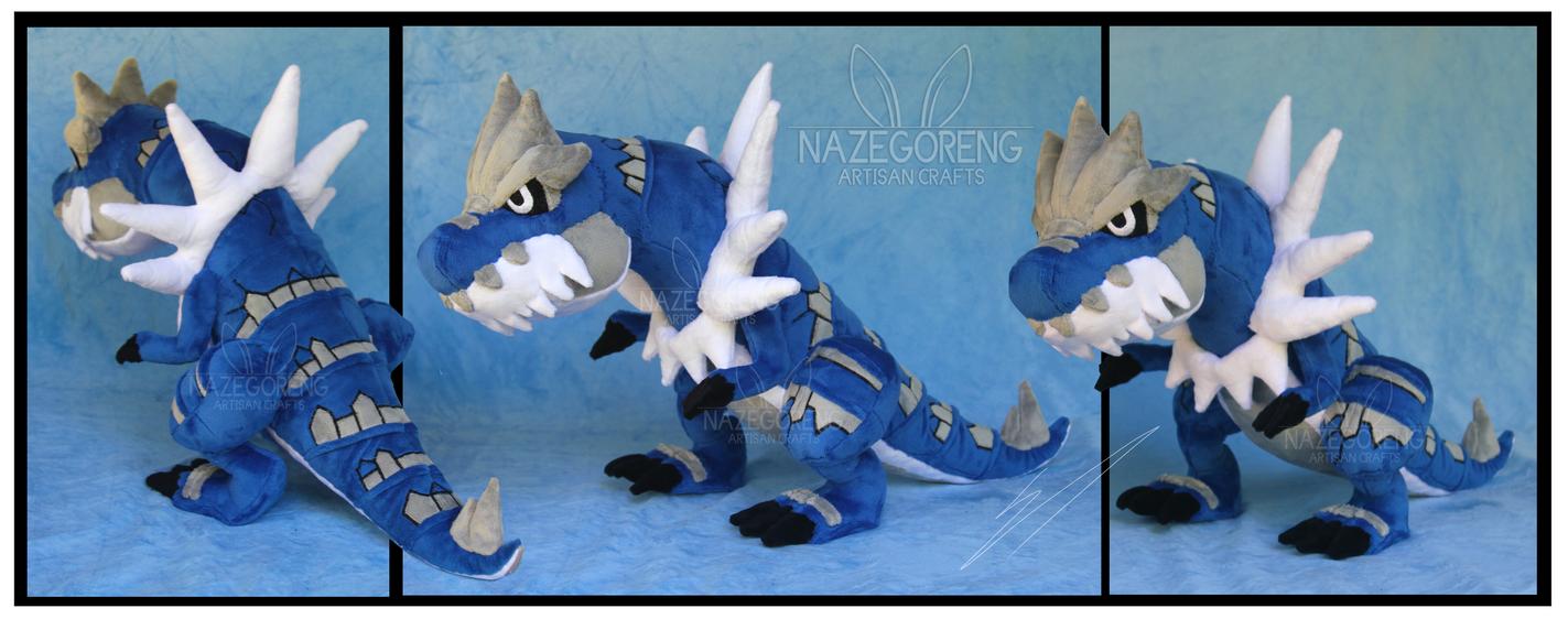 Shiny Tyrantrum Custom Plush by Nazegoreng
