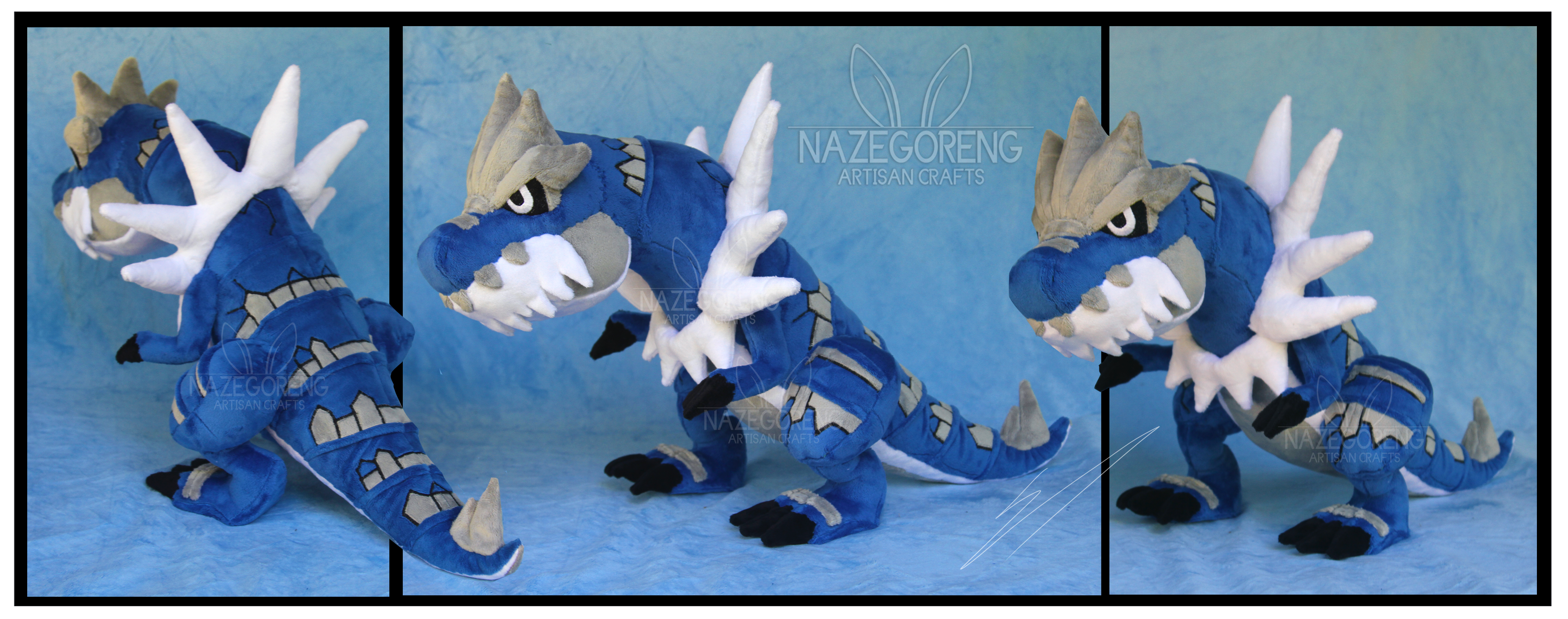 Shiny Tyrantrum Custom Plush by Nazegoreng