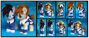 Conductor and Assistant Custom Plushes by Nazegoreng